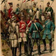 Arte: REGIMIENTOS CABALLERÍA NACIONES EUROPEAS S XIX HÚSARES DRAGONES IMPERIALISMO MILITARÍA . Lote 112439827