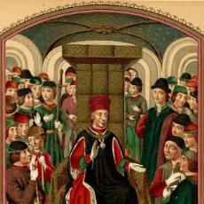 Arte: MINIATURA ALFONSO V DE ARAGÓN EL MAGNÁNIMO MANUSCRITO S XV ARTES DECORATIVAS LITERATURA. Lote 113598891