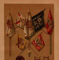 Arte: BANDERAS ENSEÑAS MORTERO RECUERDOS GUERRA CARLISTA S XIX ISABEL II CARLOS MARÍA ISIDRO. Lote 113653139