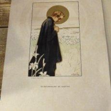 Arte: ANTIGUA CROMOLITOGRAFIA DE SAN ESTANISLAO DE KOSTKA, MAGNIFICA, 20X30 CMS. Lote 114165851