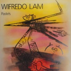 Arte: WILFREDO LAM (CUBA 1902-PARÍS 1982) CARTEL COLORES 45X62 FIRMADO PLANCHA GALERÍA LELONG 1988. Lote 114452651