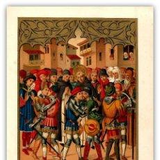 Arte: FACSIMIL RETABLO S XV SAN VICENTE FERRER APACIGUA CENTELLAS Y VILAGERUT BARCELONA . Lote 115708151