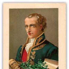 Arte: RETRATO JUSSIEU BOTANICO FRANCES SIGLO XVIII-XIX CIENCIAS NATURALES CROMOLITOGRAFIA SIGLO XIX. Lote 116470623