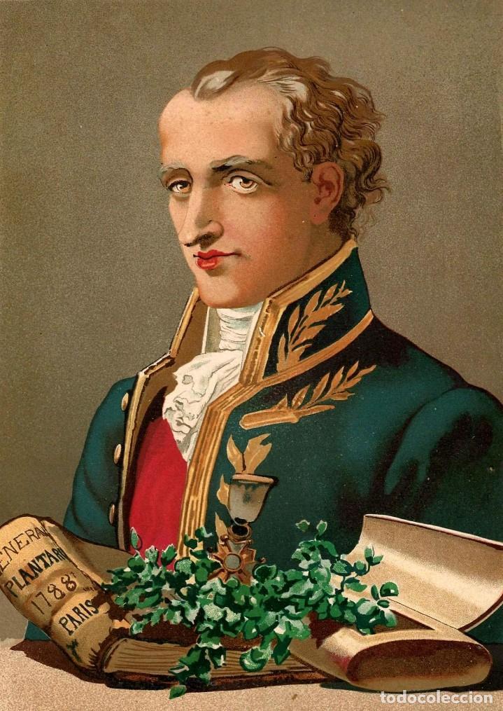 Arte: RETRATO JUSSIEU BOTANICO FRANCES SIGLO XVIII-XIX CIENCIAS NATURALES CROMOLITOGRAFIA SIGLO XIX - Foto 2 - 116470623