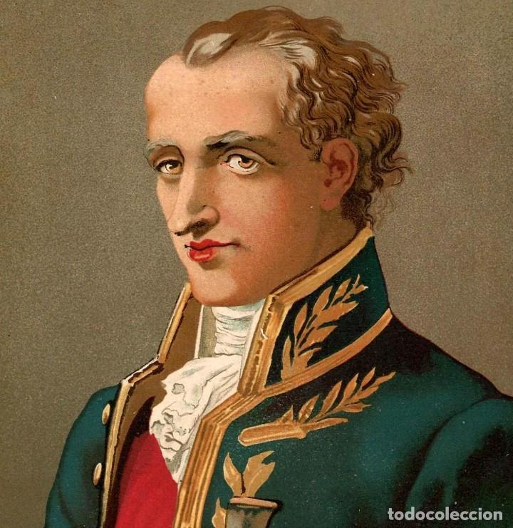 Arte: RETRATO JUSSIEU BOTANICO FRANCES SIGLO XVIII-XIX CIENCIAS NATURALES CROMOLITOGRAFIA SIGLO XIX - Foto 3 - 116470623