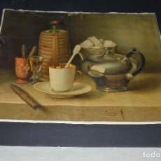 Arte: ANTIGUA CROMOLITOGRAFIA - BODEGON - SAUVAGE. Lote 117170443