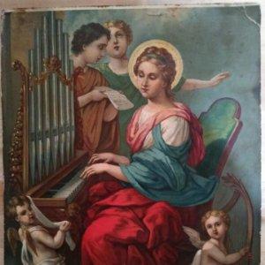 Cromolitografía Santa Cecilia
