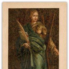 Arte: CROMOLITOGRAFÍA SIGLO XIX- DELICADA IMPRESIÓN SANTA EULALIA - PATRONA DE BARCELONA -. Lote 119528815