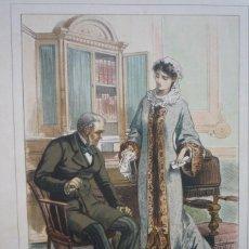 Arte: CROMOLITOGRAFÍA DE EUSEBIO PLANAS PARA LA NOVELA 'HISTORIA DE UNA MUJER' PUBLICADA EN 1880.. Lote 119530535