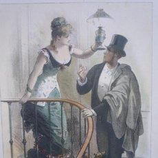 Arte: CROMOLITOGRAFÍA DE EUSEBIO PLANAS PARA LA NOVELA 'HISTORIA DE UNA MUJER' PUBLICADA EN 1880.. Lote 119530823