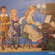Arte: GRAN CROMO TROQUELADO Y CON RELIEVE. GUARDADO EN SU FUNDA ORIGINAL. MUY ANTIGUO.. Lote 119540463