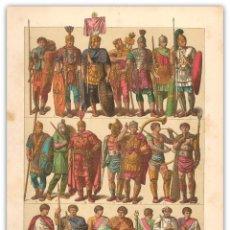 Arte: CROMOLITOGRAFIA SIGLO XIX- MODA ROMANA - IMPERIO ROMANO OCCIDENTE - EDAD ANTIGUA. Lote 119547863