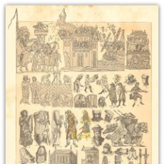 Arte: CROMOLITOGRAFIA SIGLO XIX- MODA INGLESA - ARMAS - MUEBLES - OFICIOS MANUALES - SIGLOS XIII Y XIV. Lote 119608035