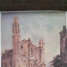 Arte: CROMOLITOGRAFÍA SANTA MARIA DEL MAR, BERLIN 1860. 481MM X 336MM. Lote 120344475