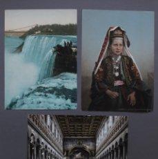 Arte: 3 BONITAS CROMOLITOGRAFÍAS ANTIGUAS. Lote 120814027