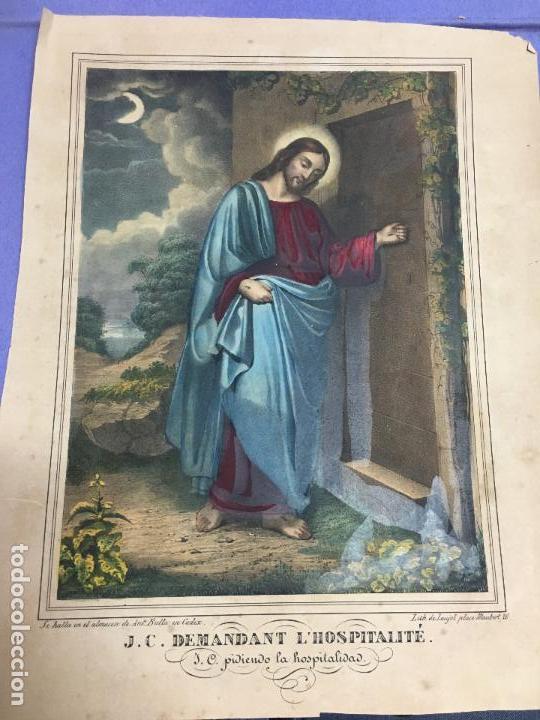 ANTIGUA CROMOLITOGRAFIA DE SAN JOSE - MEDIDA 35X27 CM - RELIGIOSO (Arte - Cromolitografía)