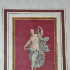 Arte: MUJER DESNUDA BAILANDO CROMOLITOGRAFIA.. Lote 122865195