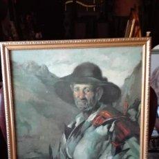 Arte: CAZADOR CON PALOMAS,CROMOLITOGRAFIA.. Lote 126940599