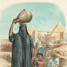 Arte: CROMOLITOGRAFIA ORIGINAL SIGLO XIX- ANTROPOLOGIA - RAZA BLANCA - EGIPCIOS -. Lote 127118107
