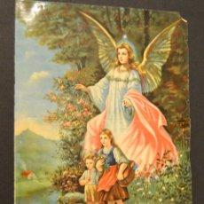 Arte: PEQUEÑA CROMOLITOGRAFIA - ANGEL DE LA GUARDA. Lote 128223675