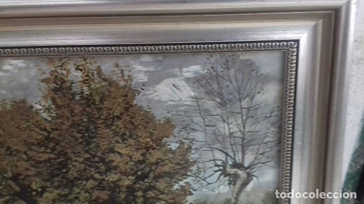Arte: REPRODUCCION SOBRE TABLA: PAISAJE DE OTOÑO CON 4 ARBOLES. VICENT VAN GOGH 1885. 37,5X31 CMS - Foto 4 - 128391927