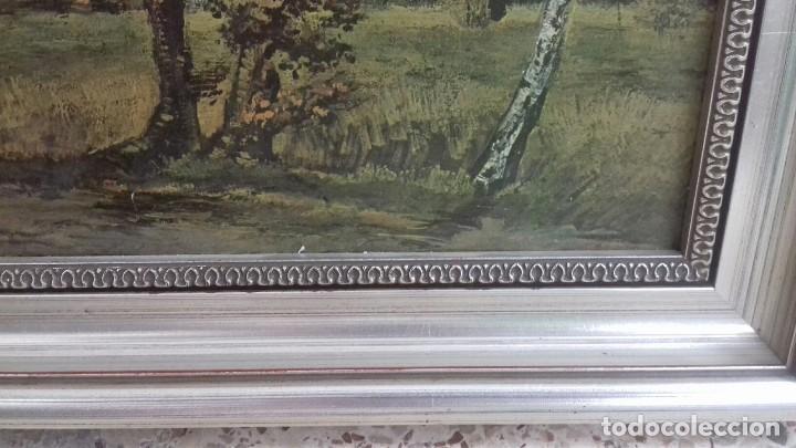 Arte: REPRODUCCION SOBRE TABLA: PAISAJE DE OTOÑO CON 4 ARBOLES. VICENT VAN GOGH 1885. 37,5X31 CMS - Foto 5 - 128391927