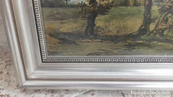 Arte: REPRODUCCION SOBRE TABLA: PAISAJE DE OTOÑO CON 4 ARBOLES. VICENT VAN GOGH 1885. 37,5X31 CMS - Foto 6 - 128391927