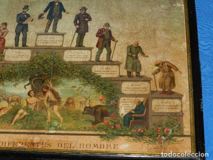 Arte: (M) LAMINA ANTIGUA - LAS EDADES DEL HOMBRE , CROMOLITOGRAFIA S.XIX , ORIGINAL - Foto 8 - 198017770