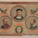 Arte: CROMOLITOGRAFIA AMERICA: COLON, HERNAN CORTES Y F. PIZARRO G-AMER-014. Lote 129684031