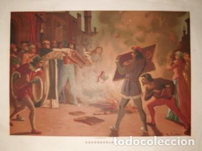 CROMOLITOGRAFIA RELIGIOSA: SAVORANOLA G-REL-278 segunda mano