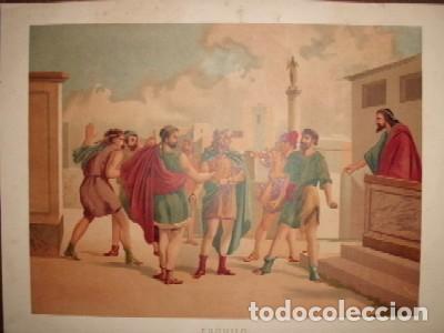 CROMOLITOGRAFIA RELIGIOSA: ESQUILO G-REL-279, usado segunda mano