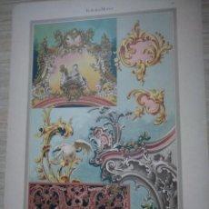 Arte: CROMOLITOGRAFIA ROKOKO MOTIVE ADAM GATTERNICHT P. KRAFT DEKORATIVE VORBILDER. Lote 130858780