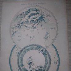 Arte: CROMOLITOGRAFIA MOTIVOS PARA PINTAR EN PORCELANA GATTERNICHT HABERT-DYS DEKORATIVE VORBILDER. Lote 130859596