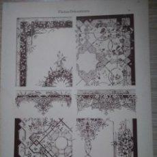 Arte: CROMOLITOGRAFIA DECORACIONES DE SUPERFICIES L. HELLMUTH DEKORATIVE VORBILDER. Lote 130862228
