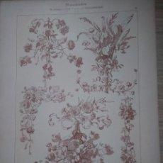 Arte: CROMOLITOGRAFIA MOTIVOS FLORALES P.WAHN DEKORATIVE VORBILDER. Lote 130863724