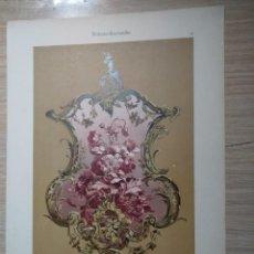 Arte: CROMOLITOGRAFIA ROCOCO DE FLORES JOH BECKMANN- ADAM GATTERNICHT JULIUS HOFFMANN DEKORATIVE VORBILDER. Lote 130864952