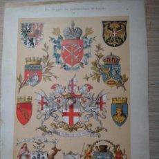Arte: CROMOLITOGRAFIA ESCUDOS DE ARMAS H.G. STRÖHL - GATTERNICHT- DEKORATIVE VORBILDER . Lote 130872340