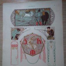 Arte: CROMOLITOGRAFIA DE CAZA - DISEÑO DE REMIGIUS GEYLING - DEKORATIVE VORBILDER .. Lote 130899104