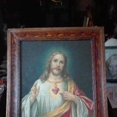 Arte: CORAZÓN DE JESÚS ENMARCADO,S:XIX.. Lote 131234367