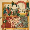 Arte: 1888 FACSÍMIL BIBLIA SIGLO XII MINIATURAS - FINA CROMOLITOGRAFÍA ORIGINAL SIGLO XIX. Lote 148042425