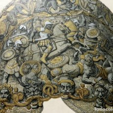 Arte: CROMOLITOGRAFÍA HERÁLDICA - CASCOS DE EL EMPERADOR CARLOS V - ARMERÍA REAL - VILLA Y CORTE DE MADRID. Lote 140865738