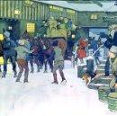 Arte: SNOWED UP ON CHRISTMAS EVE. CROMOLITOGRAFÍA A COLOR. CECIL ALDIN. INGLATERRA.XIX-XX. Lote 145508662
