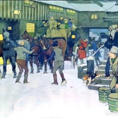Arte: SNOWED UP ON CHRISTMAS EVE. CROMOLITOGRAFÍA A COLOR. CECIL ALDIN. INGLATERRA.XIX-XX. Lote 145508662