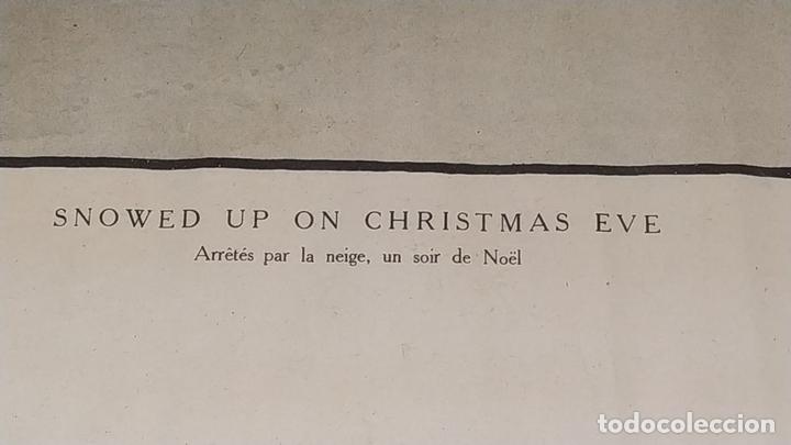 Arte: SNOWED UP ON CHRISTMAS EVE. CROMOLITOGRAFÍA A COLOR. CECIL ALDIN. INGLATERRA.XIX-XX - Foto 7 - 145508662