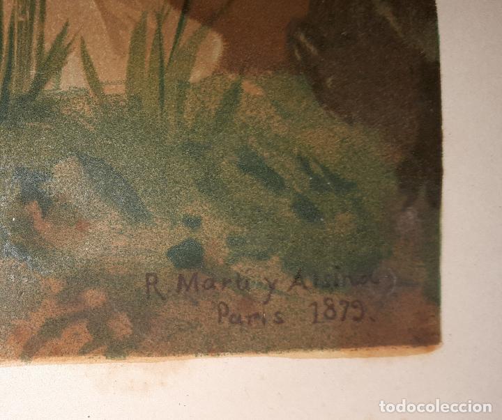 Arte: R. MARTI ALSINA CROMOLITOGRAFIA 1879 J. SEIX EDITOR CAMPI - Foto 2 - 146746862