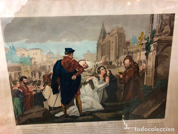 Arte: ANTIGUO CROMOLITOGRAFIA CON MOTIVOS RELIGIOSO - MEDIDA MARCO 62X52 CM - Foto 2 - 149868322