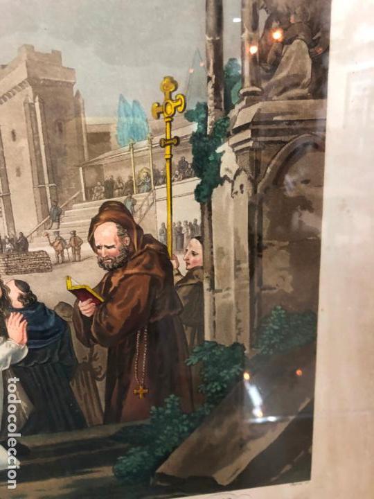 Arte: ANTIGUO CROMOLITOGRAFIA CON MOTIVOS RELIGIOSO - MEDIDA MARCO 62X52 CM - Foto 8 - 149868322
