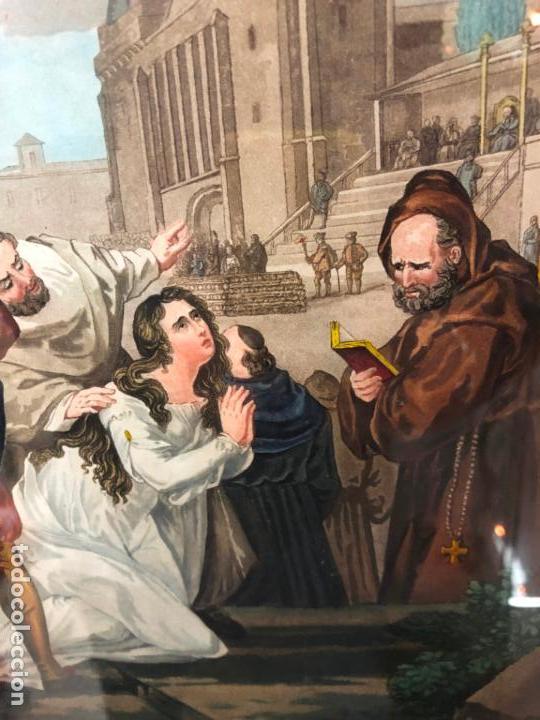 Arte: ANTIGUO CROMOLITOGRAFIA CON MOTIVOS RELIGIOSO - MEDIDA MARCO 62X52 CM - Foto 9 - 149868322