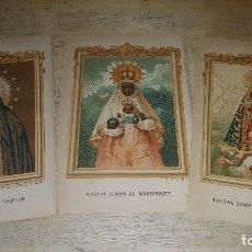 Arte: LAMINAS DE LA VIRGEN DEL LIBRO ADVOCACIONES DE LA VIRGEN E HISTORIA DE LA VIRGEN . Lote 150540246
