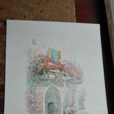 Arte: CASA BALCÓN CON FLORES DE:J.KOEHLER CROMOLITOGRAFIA SIGLO 20. Lote 152000566